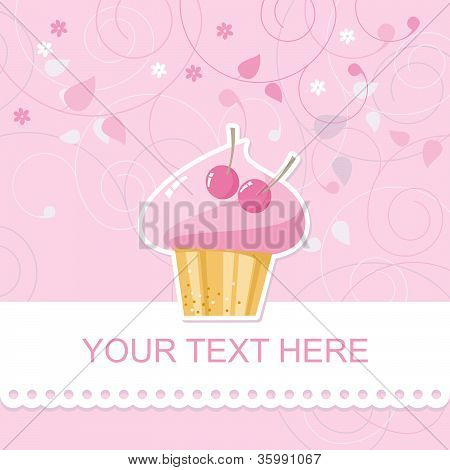 card with cupcake