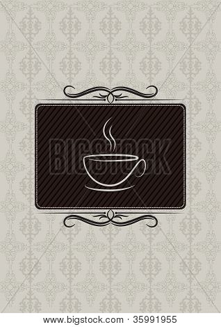 Decorative coffe house menu cover