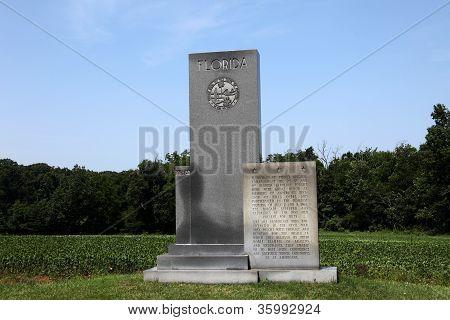 Memorial Monument Florida - Gettysburg, American Civil War