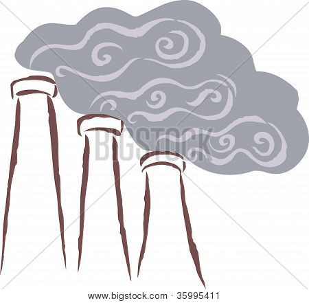 Vents Emitting Smoke; Polluting The Surrounding Area