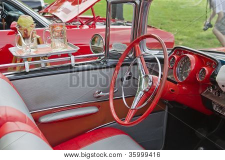 1957 Chevy Convertible Interior And Drive Thru