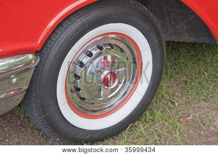 1957 Chevy Convertible White Wall Tire