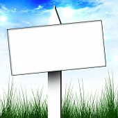 foto of yard sale  - white billboard sign on a clear sky background - JPG