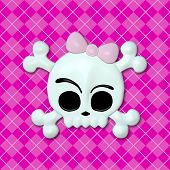 stock photo of emo  - Girly Skullz - JPG