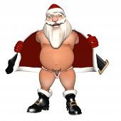 stock photo of humbug  - Santa Flashing in a Reindeer Thong - JPG
