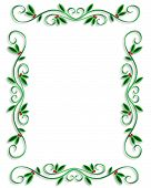 image of christmas lights  - Illustrated Background border or frame for Christmas holiday with copy space - JPG