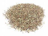stock photo of origanum majorana  - Wild marjoram origanum spice used in mediterranean area - isolated over white background ** Note: Shallow depth of field - JPG