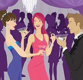 Постер, плакат: Люди общение на коктейль