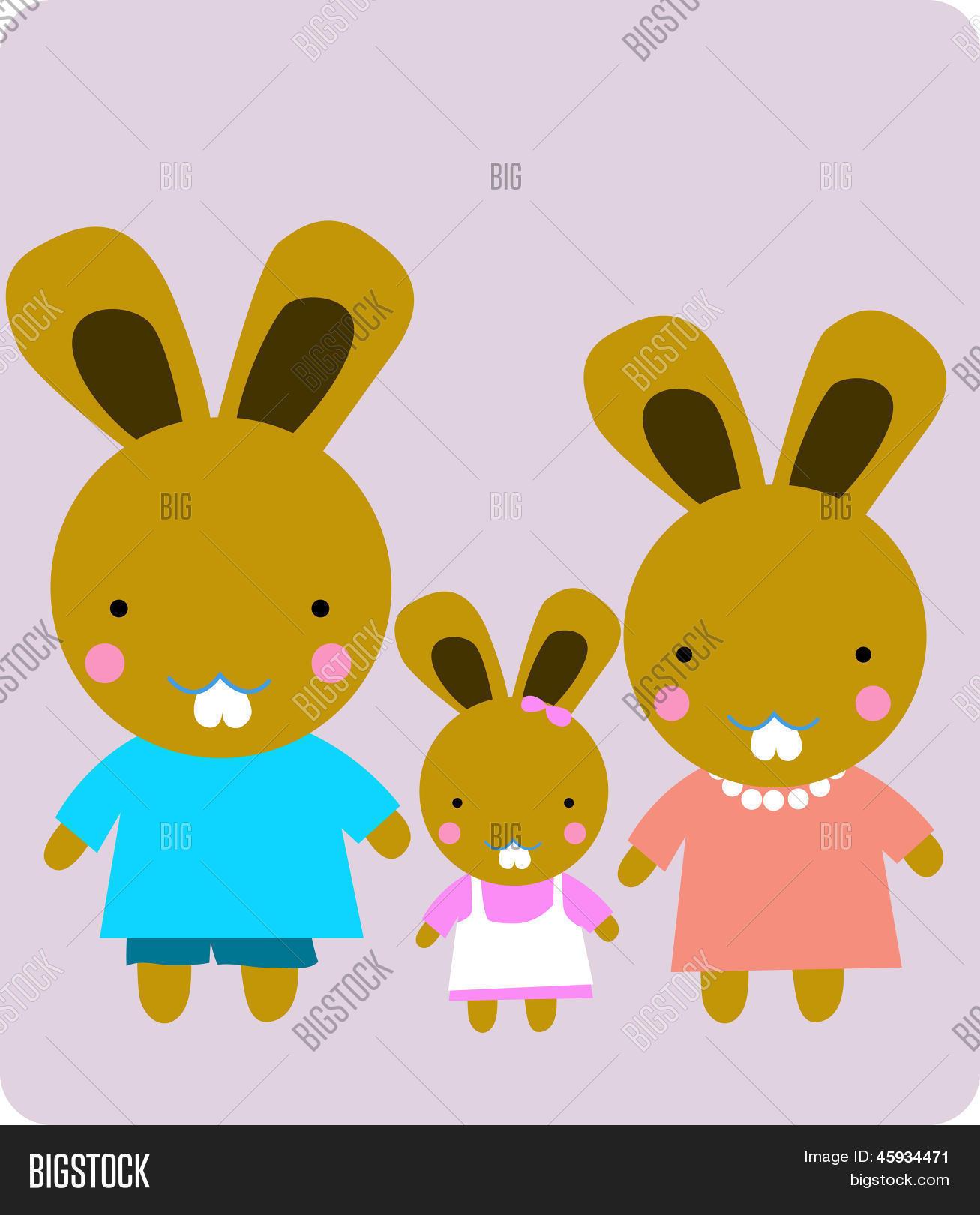 Vector y foto Dibujos Animados De La Familia  Bigstock