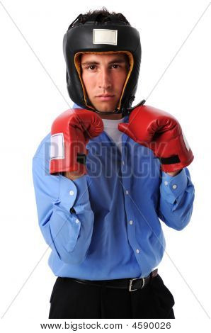 Businesman With Boxing Gloves