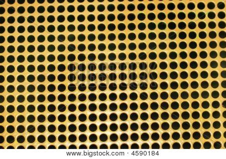 Yellow Painted Metal Abstract Pattern