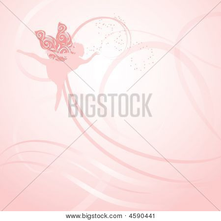 Pink Fairy Background
