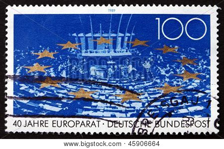 Postage Stamp Germany 1989 Council Of Europe
