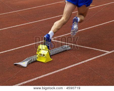Runner Off The Starting Block