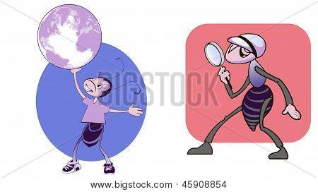 Duas formigas engraçadas