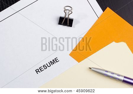 Resume Title Page