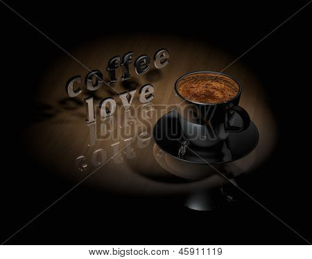 Cup Coffee With Symbol Coffee Love