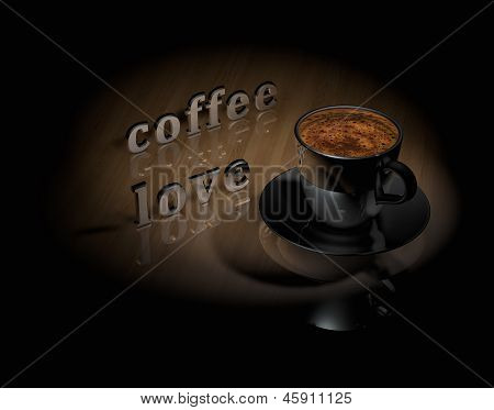 Cup Coffee With Text Coffee Love