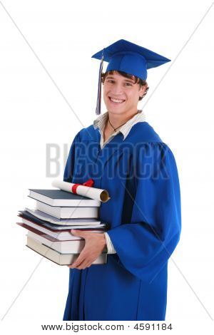 College Graduate Student Holding Books
