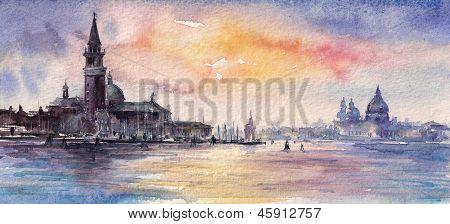 Pôr do sol de Veneza
