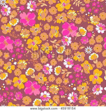 pretty ditsy floral seamless background