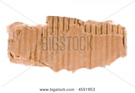 Piece Of Corrugated Cardboard
