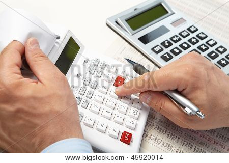 The Businessman And Calculators