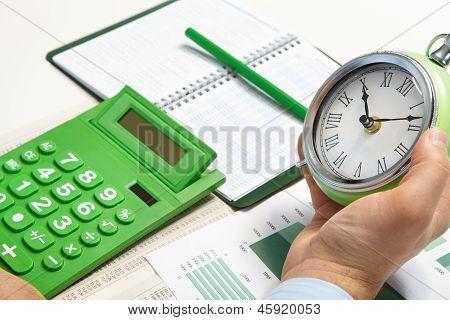 The Businessman And Alarm-clock
