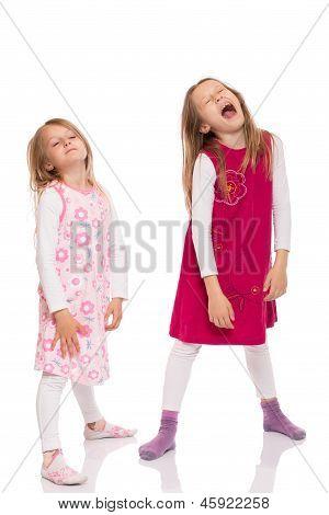 Funny Children Making Face