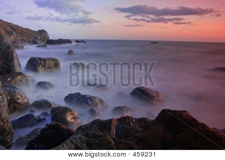 Sunset At Muir Beach