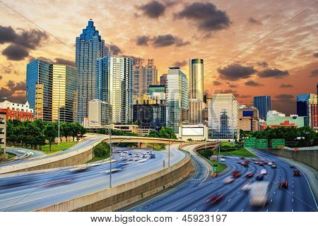 Downtowntown-Atlanta, Georgia-Skyline.