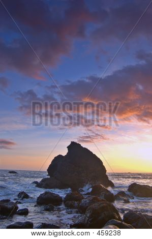Sunset At Muir Beach