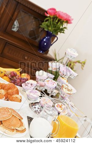 Continental Breakfast Table Set Up