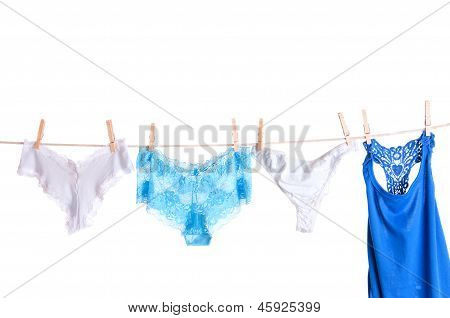 Sexy Lingerie On Clothesline