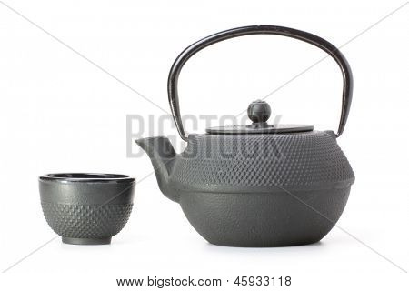 Chinese traditional teapot isolated on white background