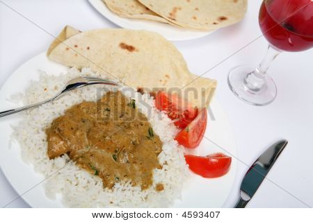 Chicken Korma With Wine Angled