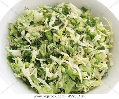 Summer Coleslaw And Greens