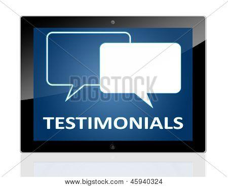 Tablet Testimonials
