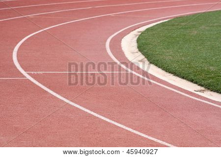 Athletics Race Track Bend