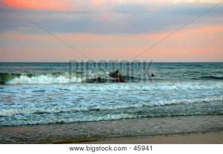 Surfer At Montauk Beach