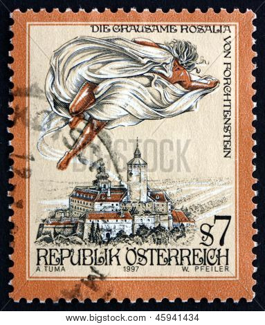 Postage Stamp Austria 1997 The Cruel Lady Of Forchtenstein Castle
