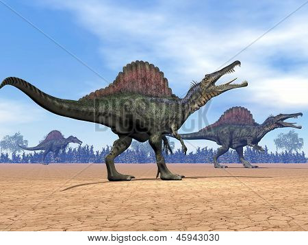 Spinosaurus Dinosaurs Walk - 3D Render
