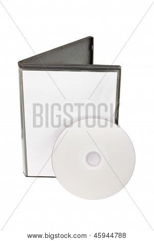Cd Dvd Disk With Cd Dvd Box Isolated On White Background