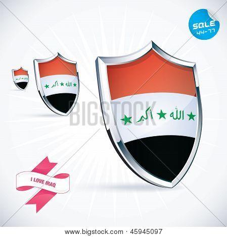 I Love Iraq Flag Illustration