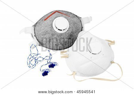 Two Different Respirator And   Earplugs