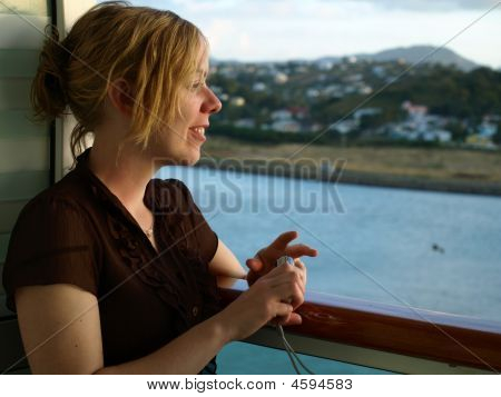 Female On Cruise Ship
