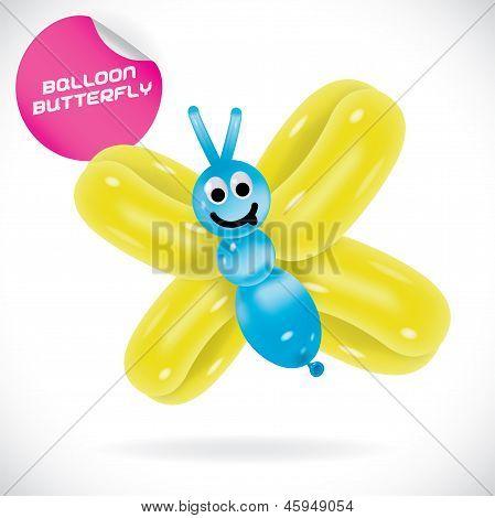 Balloon Butterfly Illustration