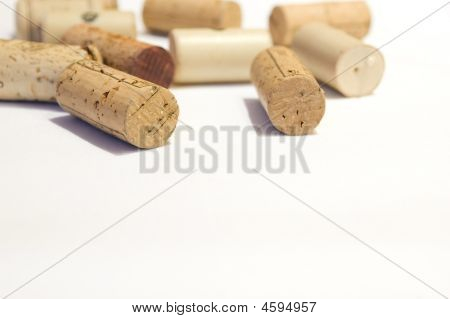 Wine Corks With Empty Space