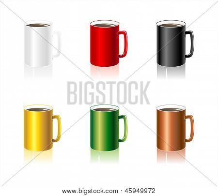 Set colorful Cups