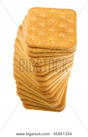 Cracker Isolated On White Background